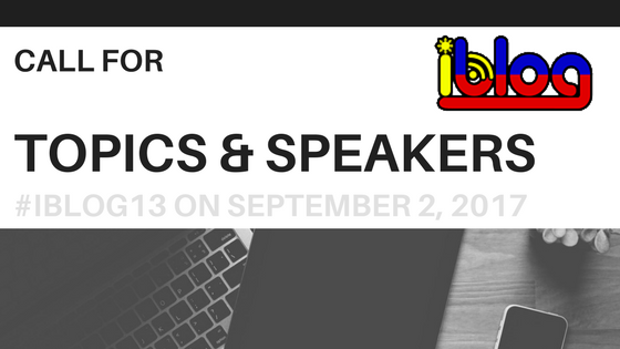 call for speakers iblog13